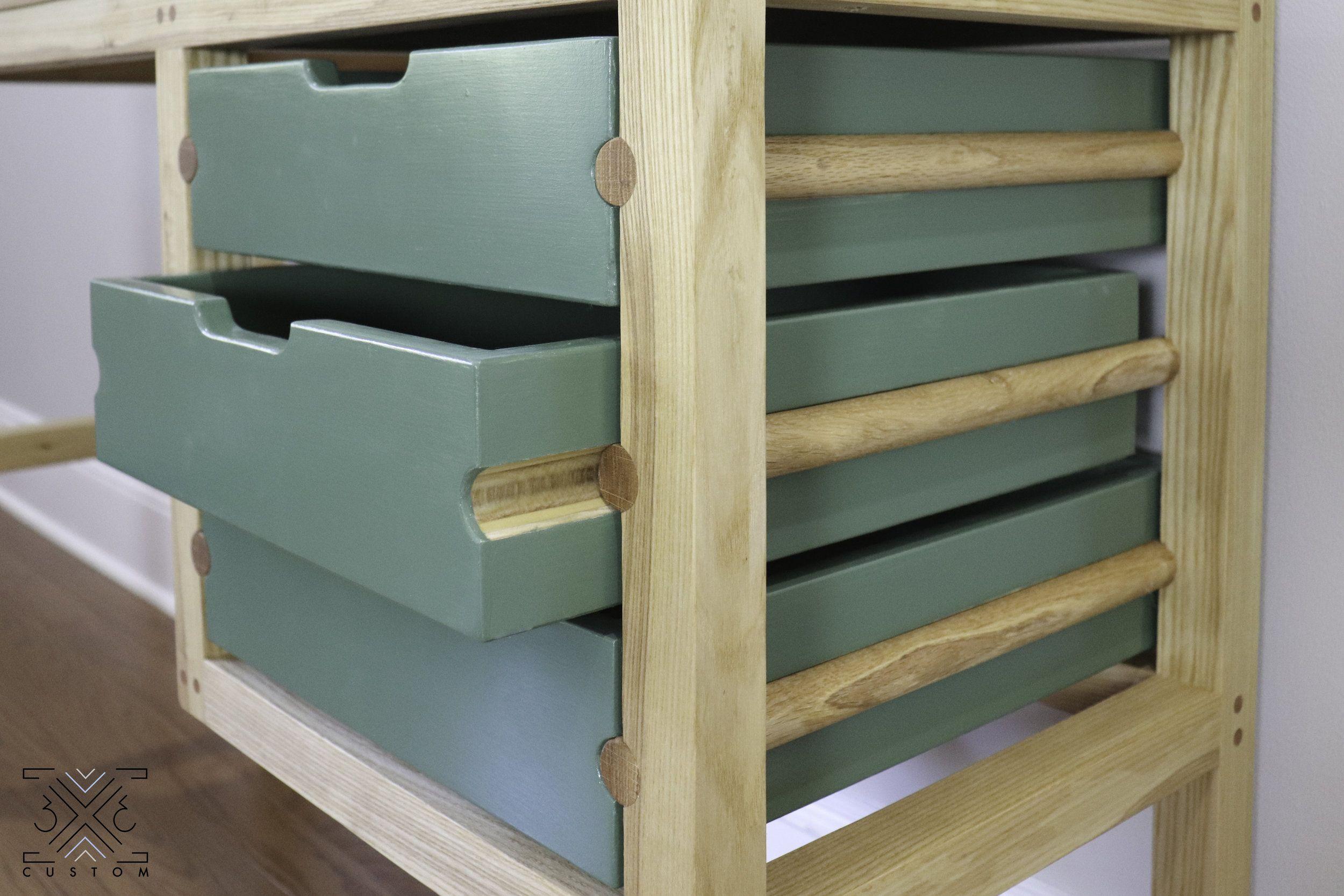 Building a desk with dowel drawer slides wood drawer