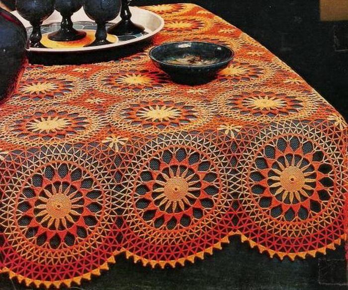 Wunderschöne Tischdecke Häkeln Crochet Tablecloth Häkeln
