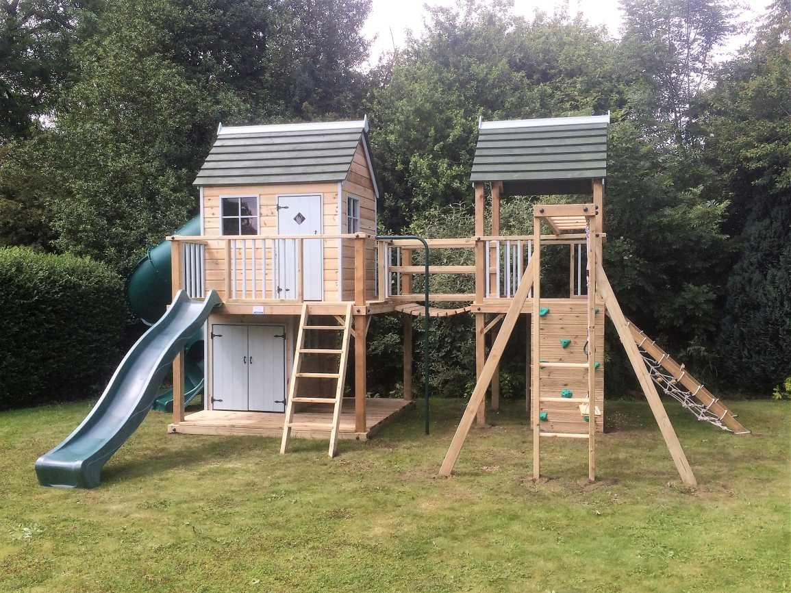 Forest Mega Combo Turbo Playhouse Climbing Frame - Design Create Play