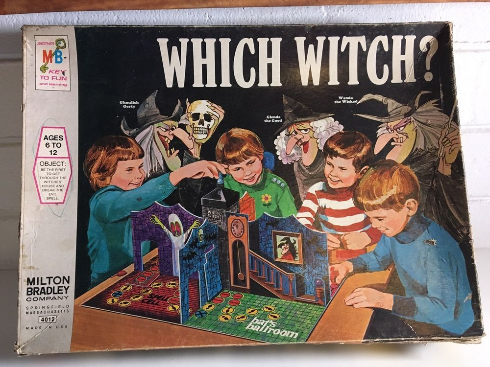 Vintage 1970s Milton Bradley WHICH WITCH Game