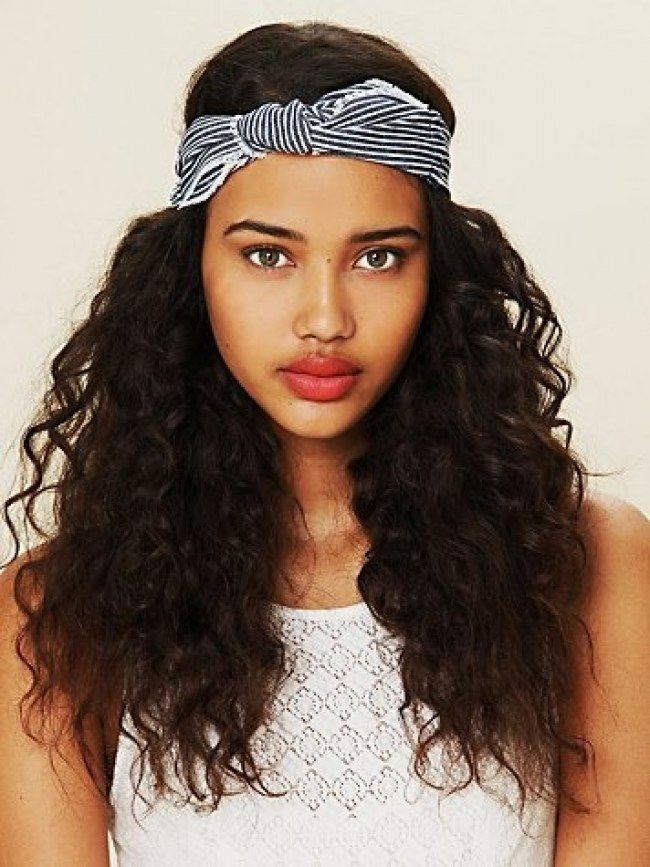 Gorgeous Messy Hairstyles For Curly Hair Hair World Magazine Curly Hair Headband Natural Hair Headbands Headband Hairstyles