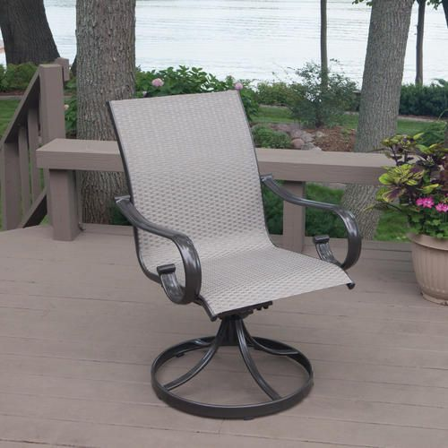 Camdon Sling Swivel Chair At Menards Patio Chairs Outdoor Chairs Backyard Creations