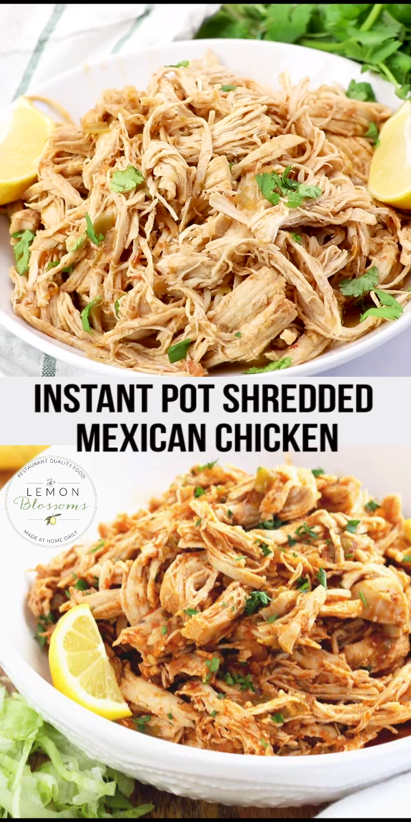 Instant Pot Shredded Chicken Mexican Style images