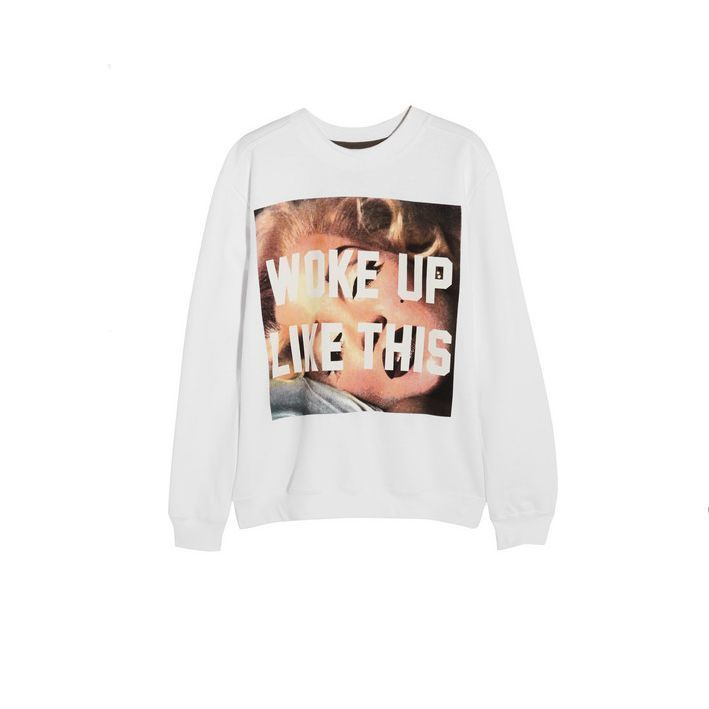 Woke Up Like This sweatshirt - 25 of the chicest slogan t-shirts, jumpers and sweatshirts | Stylist Magazine