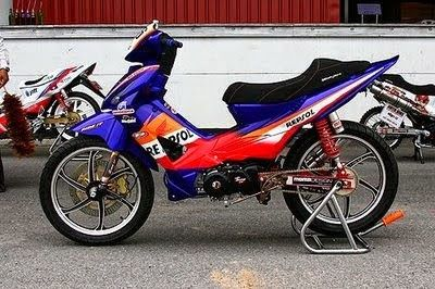 Modifikasi Motor Revo 110 Fit Moped Honda Fit Honda