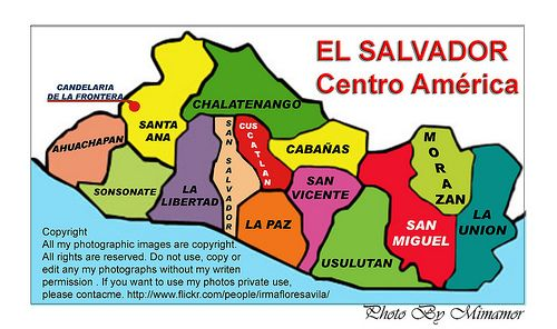 Mapa de El Salvador  El Salvador  Pinterest  El salvador