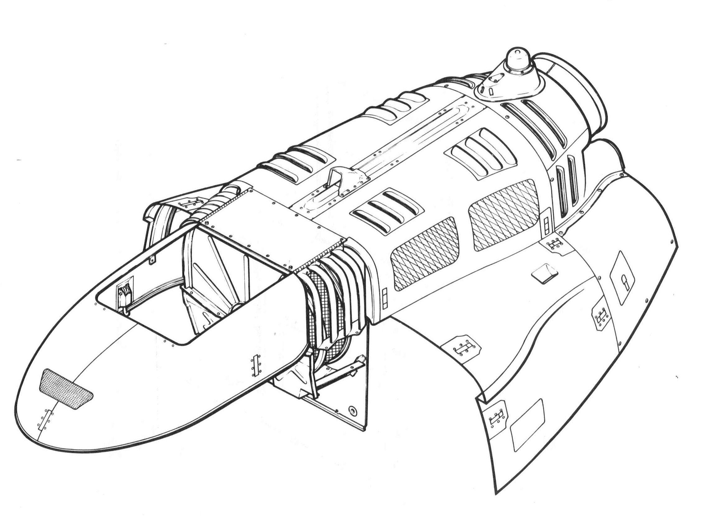 Engine cowling 5 8 2285×1704