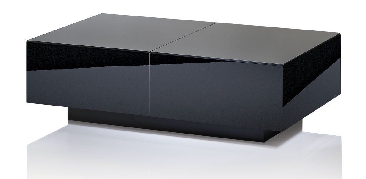 Uk Cf Ultimate High Gloss Black Extending Coffee Table 429