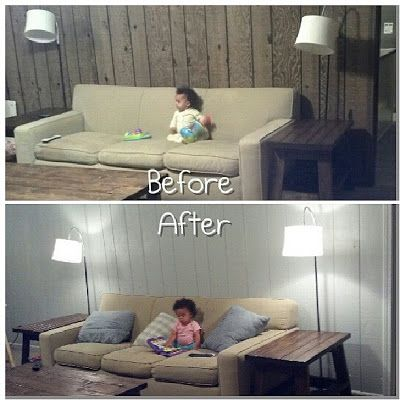 before and after painted paneling | Things I've done ...