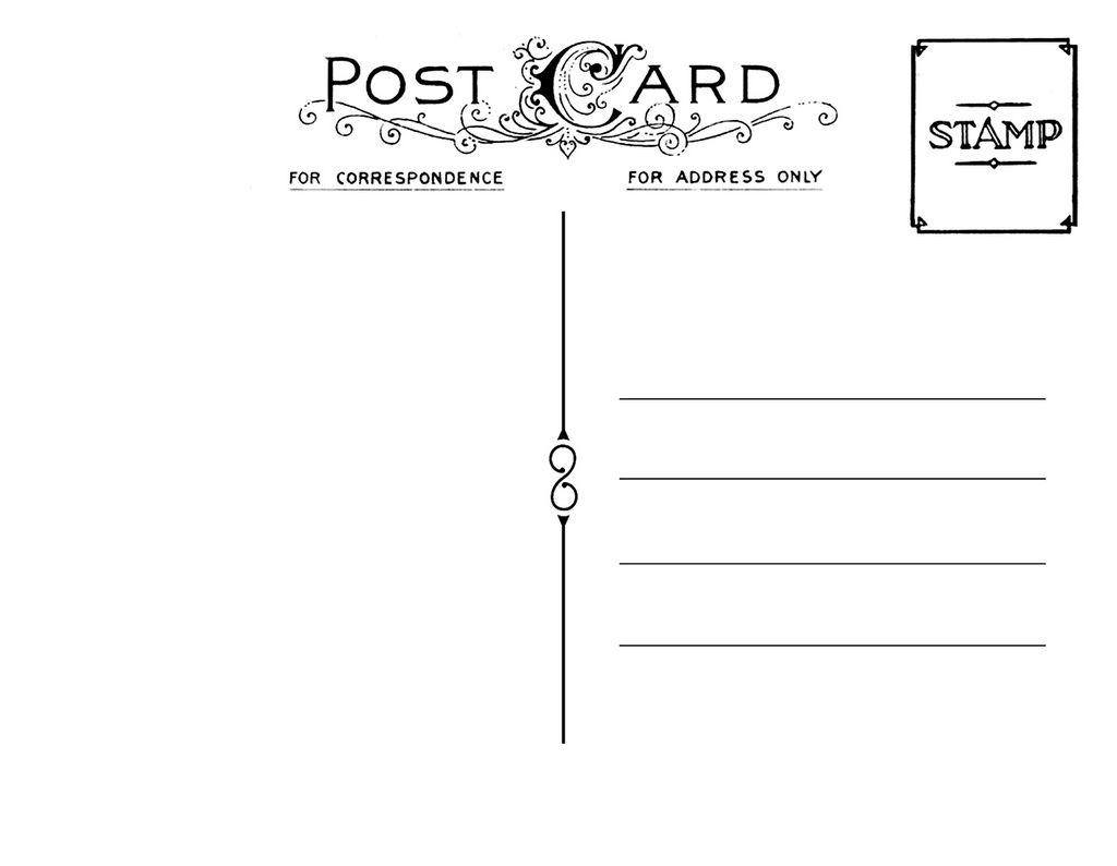Diy Postcard Save The Date Back Printable Postcards Diy