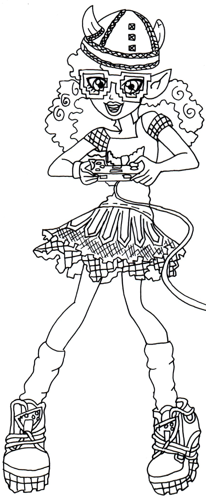 kjersti trollson monster high coloring page png 663 1600 2
