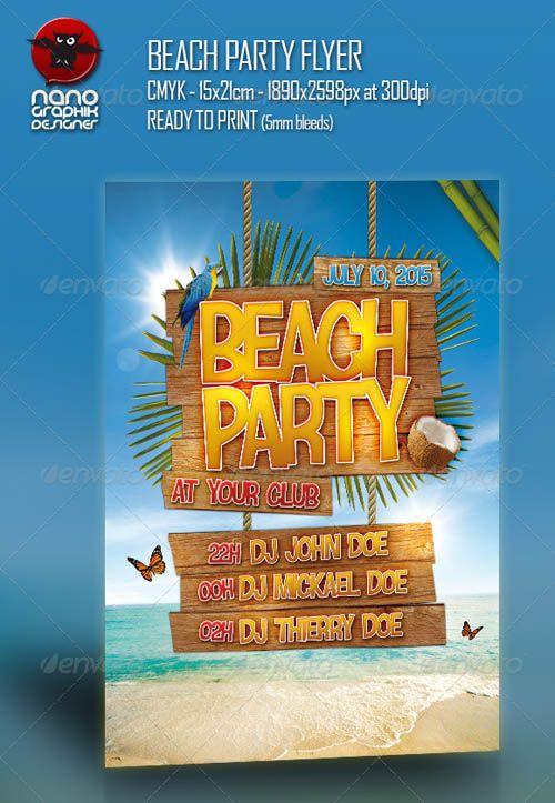 Cute Beach  Graphic Inspiration    Flyer Design