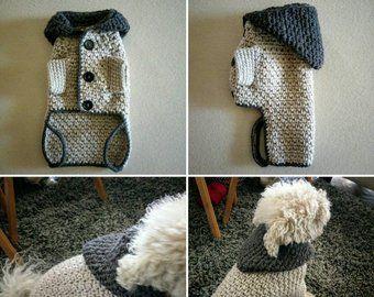 Suéter de perro, ropa de PET de cable, ropa de perro hecha a mano, suéter de perro pequeño, suéter de perro personalizado, ropa de perro XS, tops de perro, BubaDog
