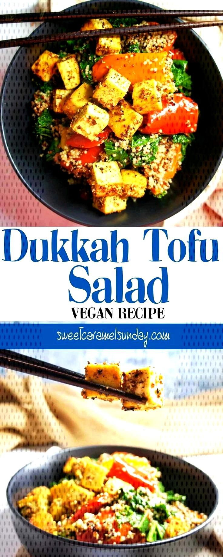 Dukkah Salad with Tofu Recipe Dukkah Tofu Salad | Sweet Caramel Sunday