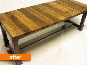 Zelf Tafel Maken : Zelf tafel maken pimp je oude meubel diy leren zelf maken