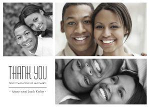 Simple Collage Thank You Wedding CardsWedding