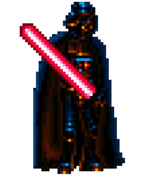 Darth Vader From Super Star Wars Empire Strikes Back Super Nintendo Star Wars Art Star Wars Awesome Pixel Art