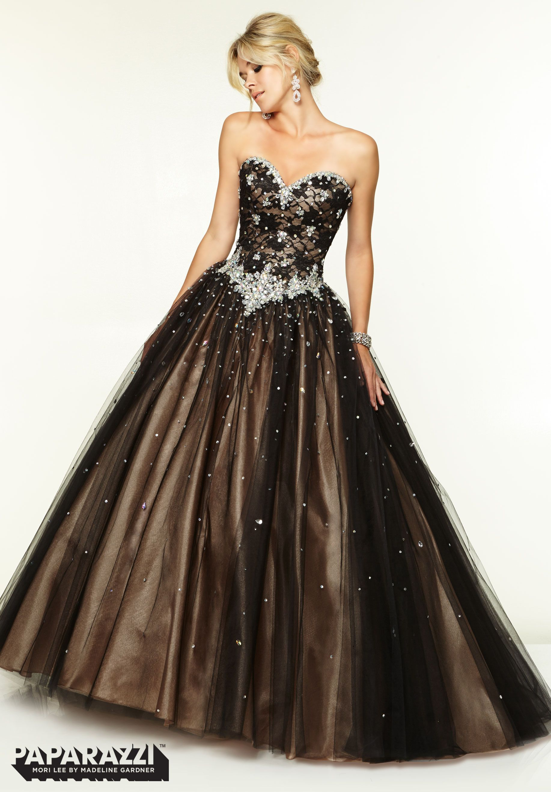 prom dresses gowns jeweled beading on lace and tulle