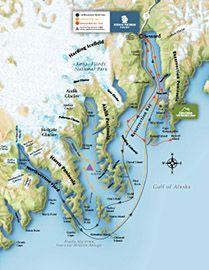 KFTTourRoutesjpg Alaska Pinterest Alaska Kenai fjords and