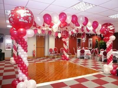 Decoracion de salones de 15 a os con globos earleana for Decoracion de 15 anos con globos