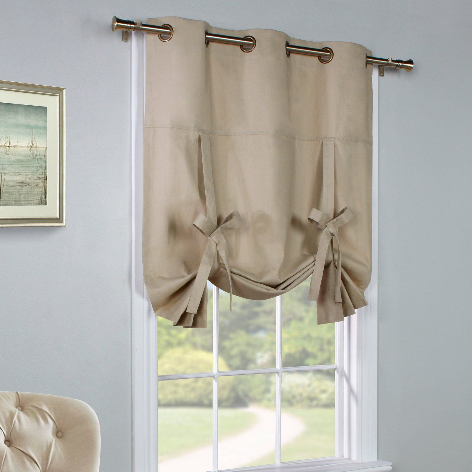 Commonwealth Thermalogic Weathermate Tie Up Curtain Panel Khaki