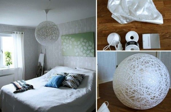 designer lampe selber bauen diy lampe kugel sph re deko. Black Bedroom Furniture Sets. Home Design Ideas