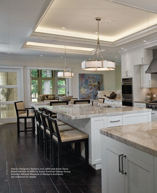 Cabinet Style And Counters Interior Design Kitchen Tray Ceiling Interior