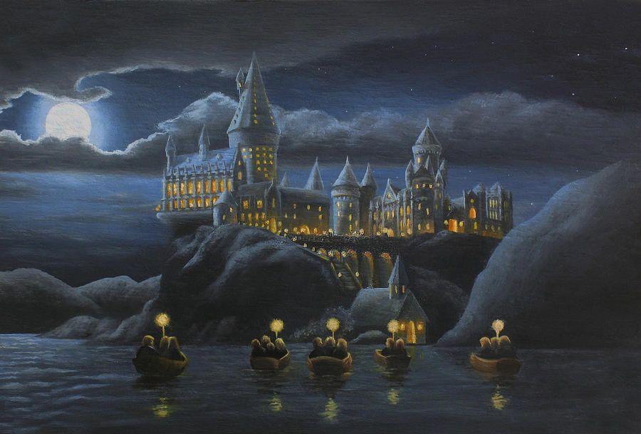 Hogwarts na pintura Noite