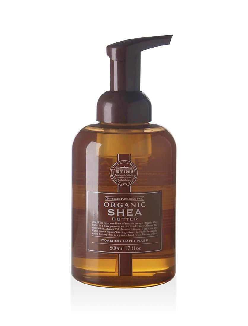 The soothing properties of aloe vera and the restorative and repairing nature of wheat germ oil are combined with nettle extract in our Greenscape Organic Foaming Hand Wash. These ingredients are steeped in botanically active history, making this a gentle hand wash like no other. Available in 5 key ingredients; Shea, Cocoa, Olive, Honey and Lavender, each containing natural extracts to gently but thoroughly cleanse your hands.