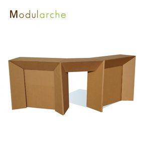 Comptoir 3 Elements En Carton Modularche Http Modularche Fr Mobilier En Carton Meubles En Carton Mobilier De Salon