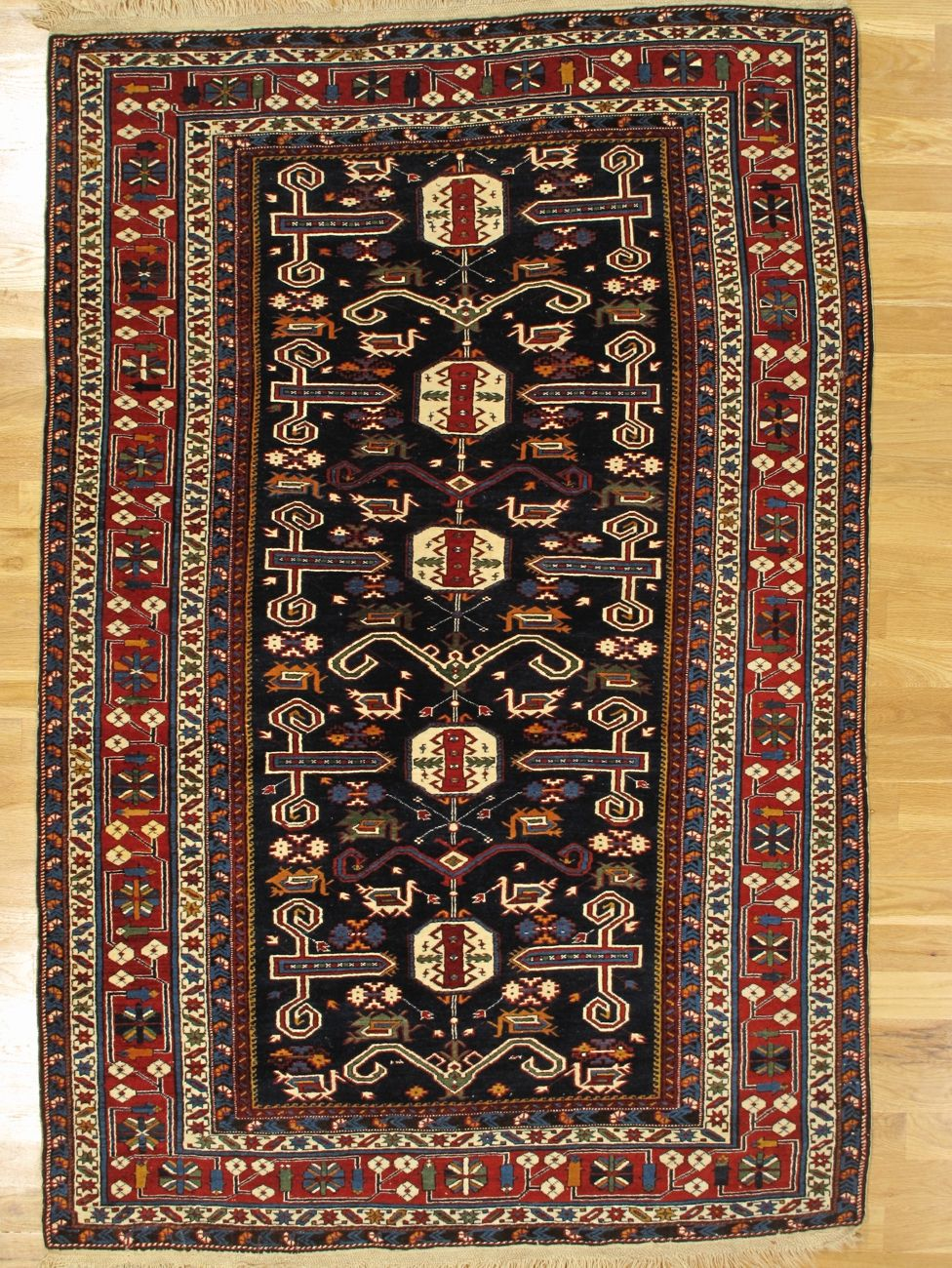 Perepedil Rug From Kuba District Eastern Caucasus Age Circa 1900 Size 7 0 X4 9 213x145 Cm Antique Persian Carpet Rugs Rugs On Carpet