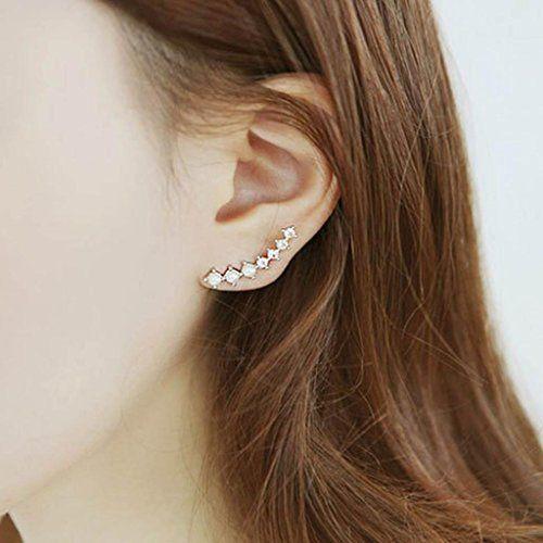 Rhinestones Beatles Ear Wrap Ear Cuff Earrings Ear Stud Ear Rings - CHECK IT OUT @ http://www.finejewelry4u.com/jew/102620/150720