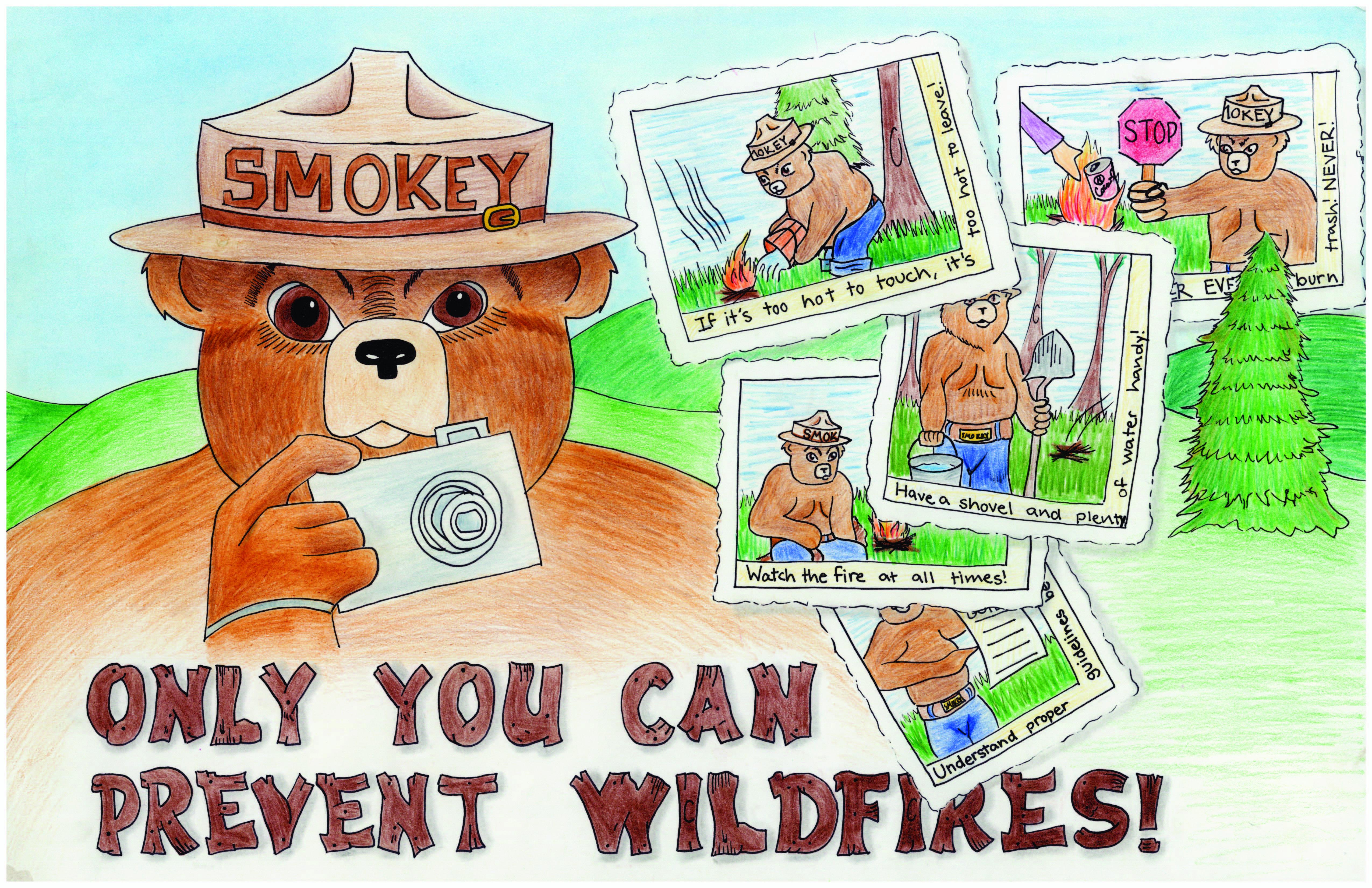 2014 Smokey Bear Poster Winner. Owl posters, Smokey the