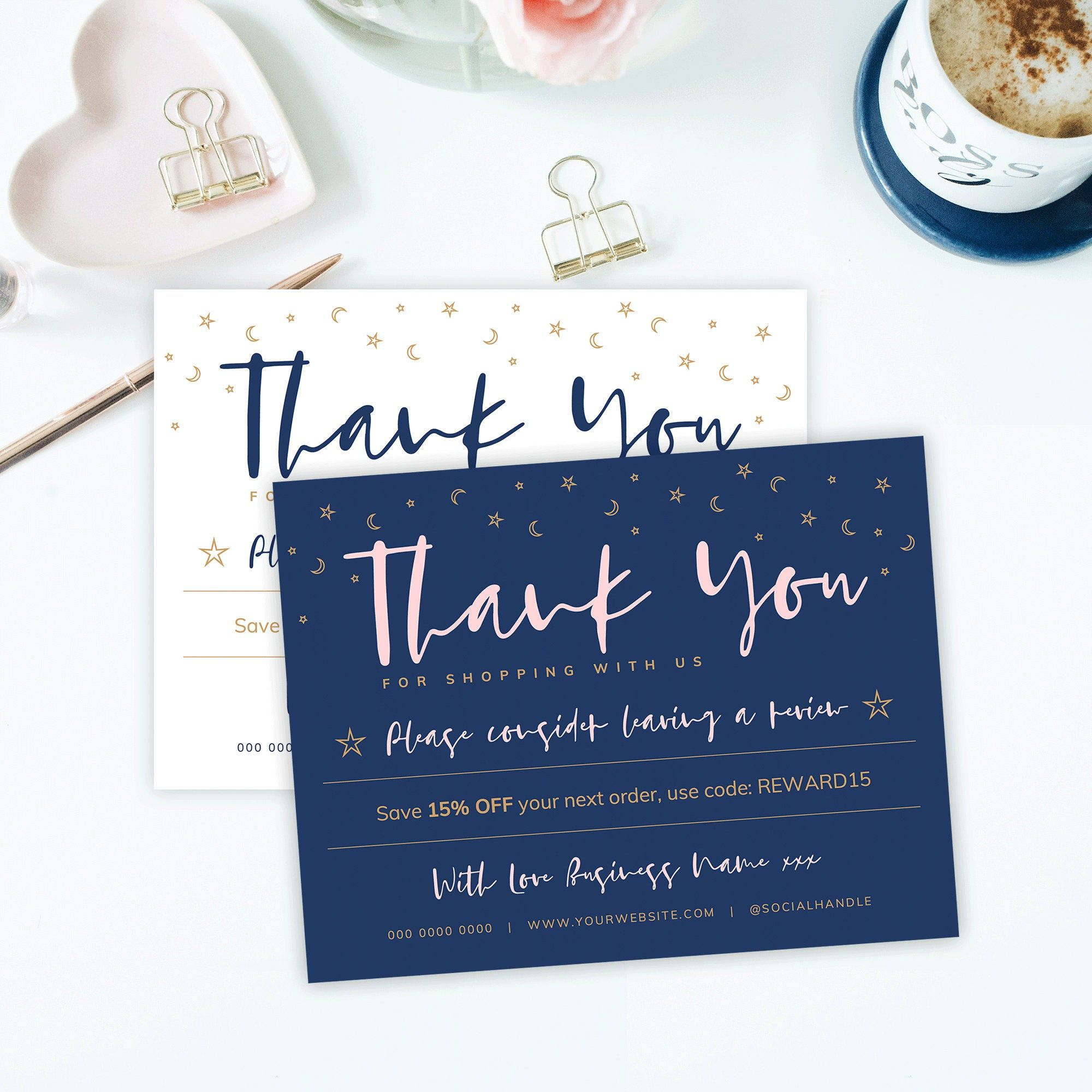 DIY Business Thank You Card Template Thank you for your ...