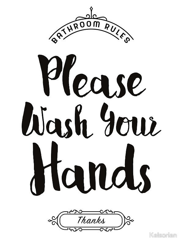 Bathroom Signs Wash Hands please wash your hands, hand washing poster' framed print