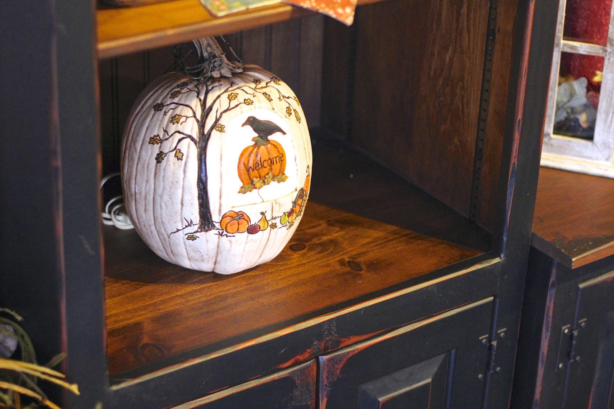 White Painted Pumpkin