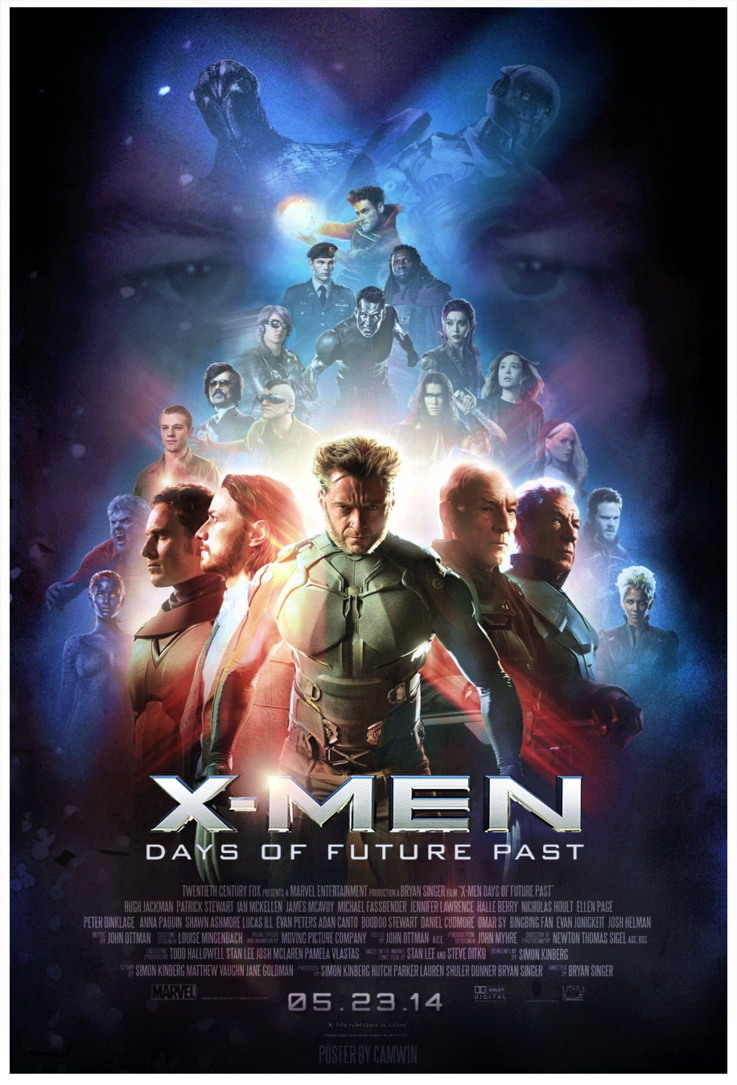 X Men Days Of Future Past Poster 2014 Days Of Future Past X Men Marvel