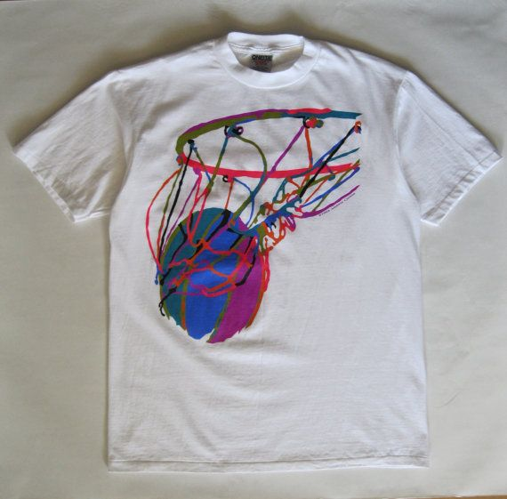 Basket ball art signed tee Andrew Carson by afterglowvintage, $34.00