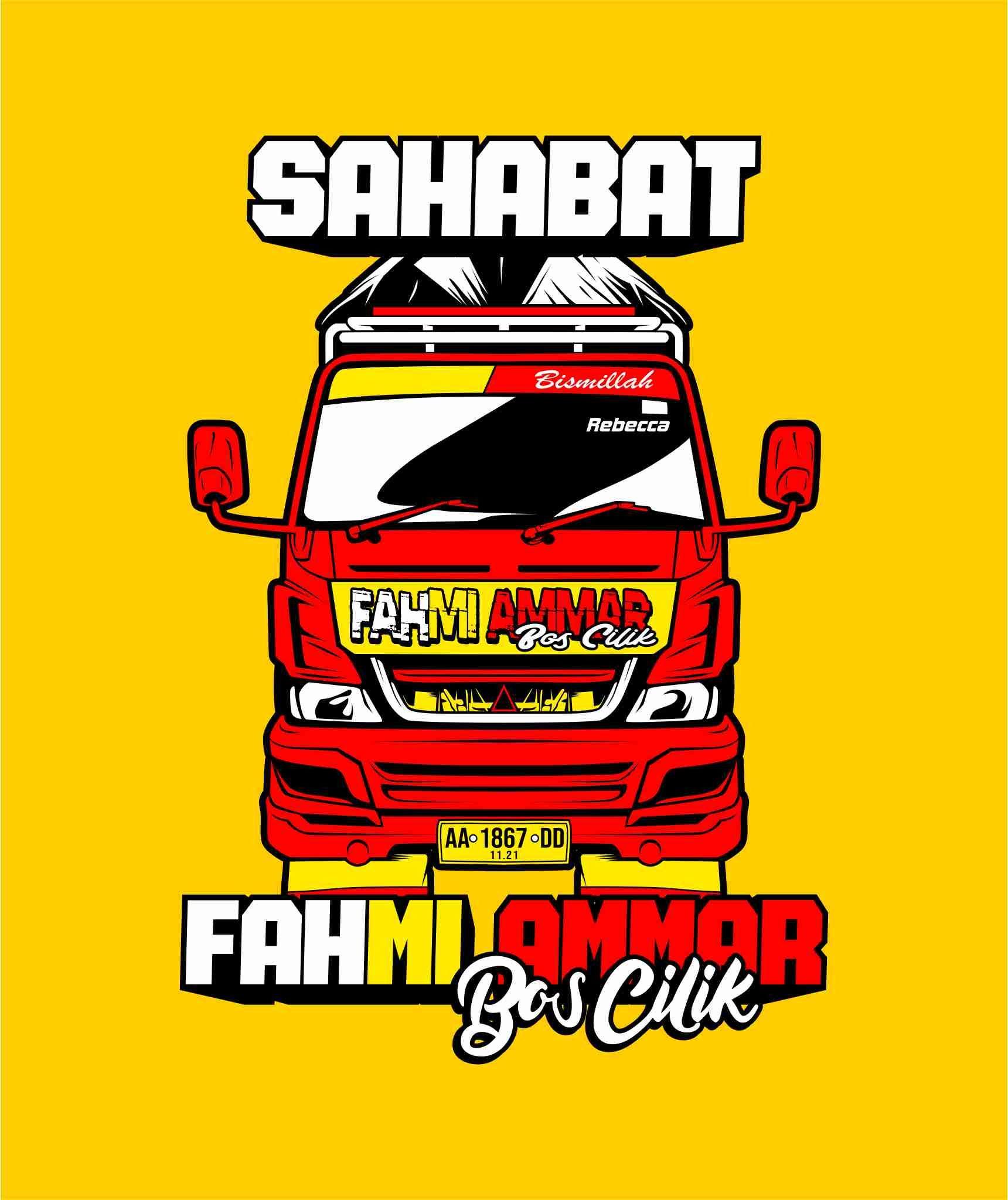Truk Vector Sahabat Fahmi Ammar Desain Vektor Gambar Tokoh Desain Get wallpaper truck png