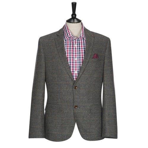 11bdb0b80d22 HARRY BROWN Heritage Grey Check Tailored Blazer £79.00