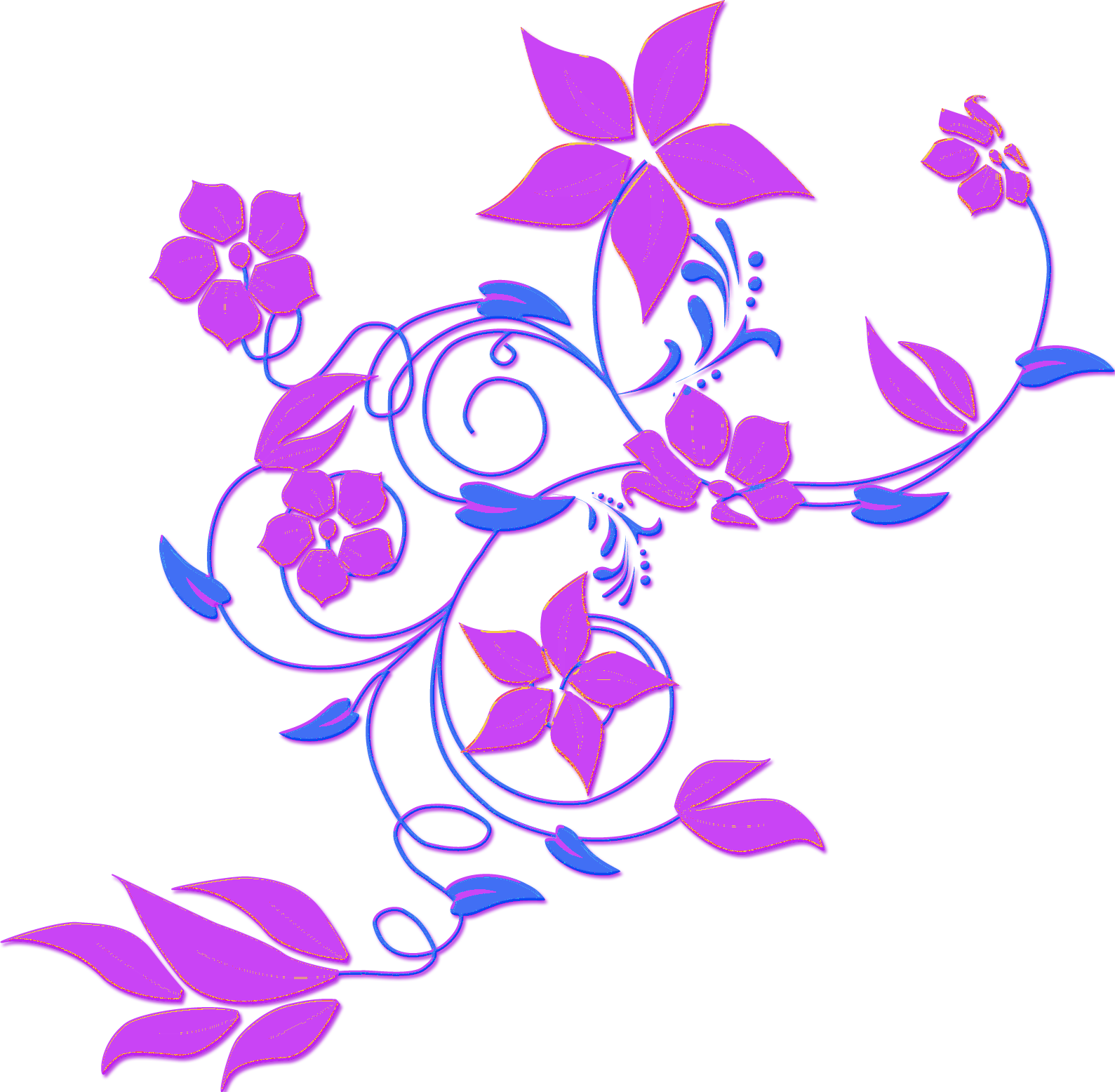 Flower 75 image vector clip art online, royalty free