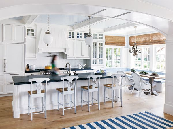 vacation home kitchen design: on holiday -- boston home | white