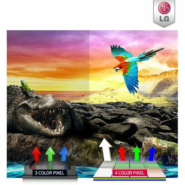 LG curved tv 4 pixel color television