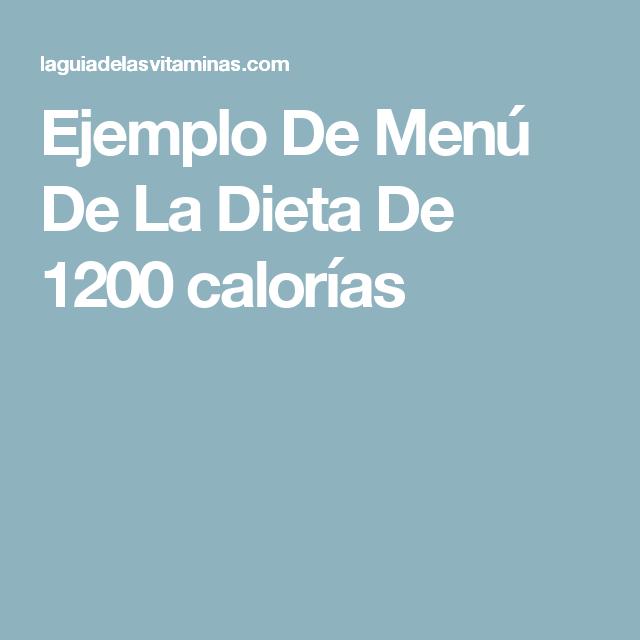 Ejemplo de menú de la dieta de 1200 calorías | Recetas