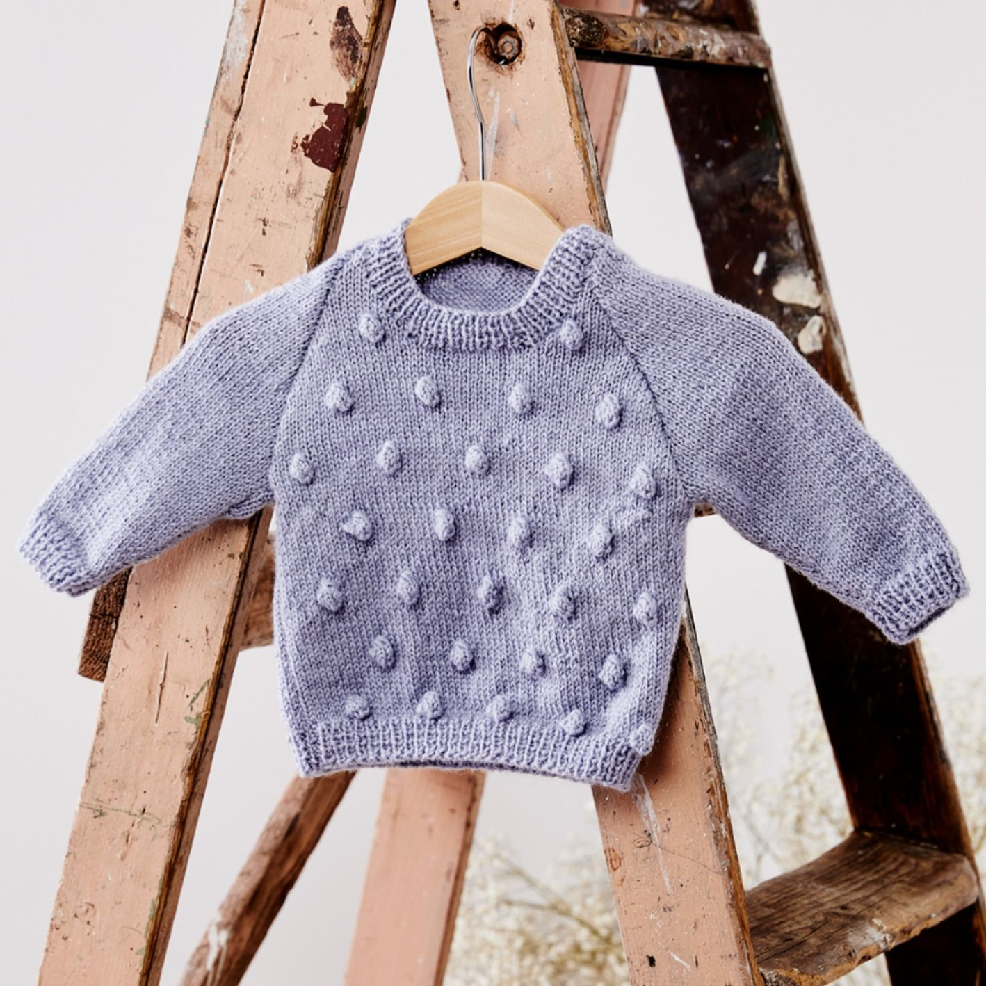 A600 Babies Bobble Jumper | Jumper knitting pattern, Baby ...