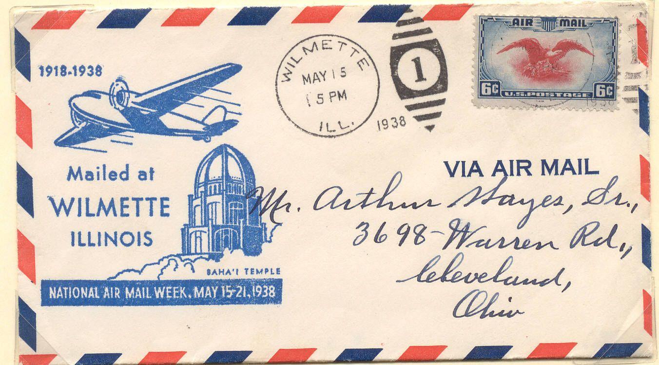 Air Mail Postage Stamps envelopes Bahá'í Postal