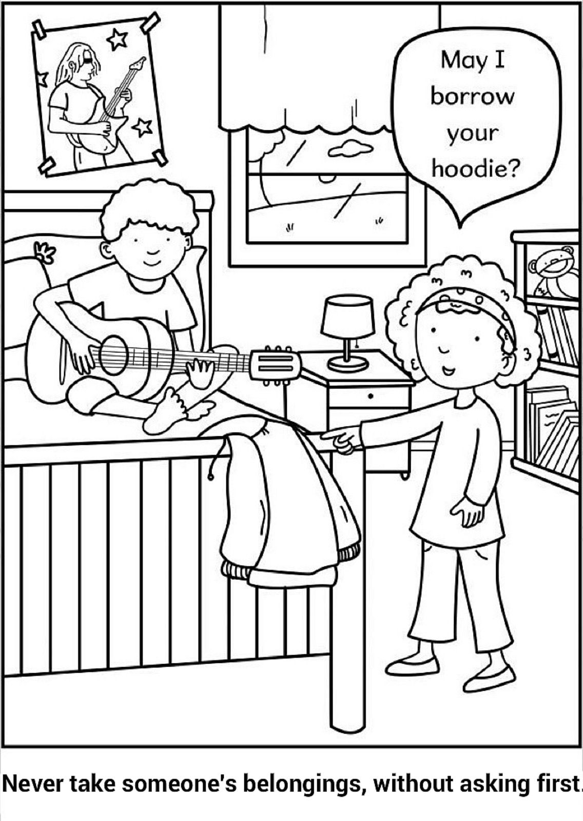 Do Not Steal Coloring Page Preschool Coloring Pages Coloring