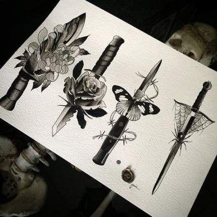 Trendy tattoo butterfly knife 15 ideas