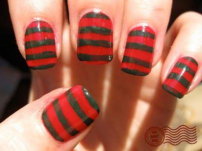 Freddy Krueger Nails Nails Makeup Hair Skin Care Halloween Nails Nail Designs Hair