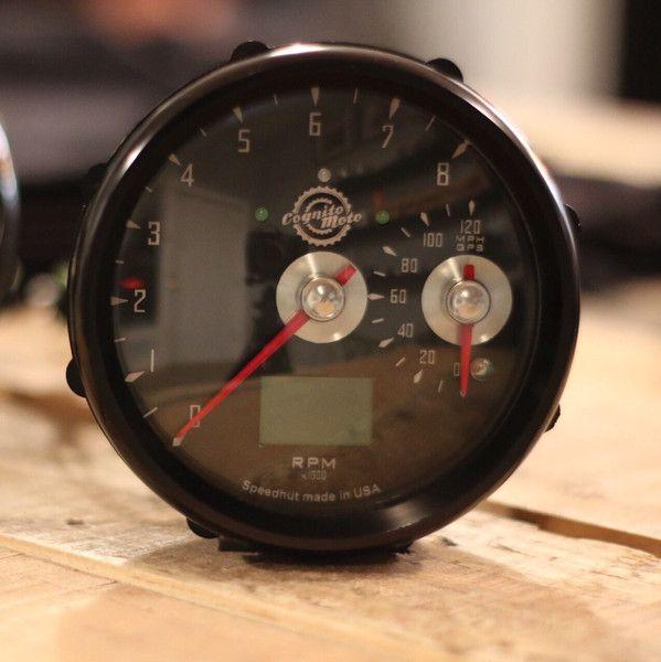 GPS Speedo and large Tach | Bob Up | Scrambler motorcycle, Honda
